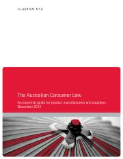 Clayton-Utz-The-Australian-Consumer-Law-An-Essential-Guide-For-Product-Manufacturers-And-Suppliers-2