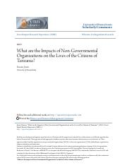 What are the Impacts of Non-Governmental Organizations on the Liv.pdf