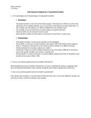 unit 5 pt1420 Introduction to programming unit 5 assignment 1 introduction to programming graded assignments pt1420 introduction to programming graded assignments graded assignment requirements this document includes all of the assignment requirements for the graded assignments in this course.