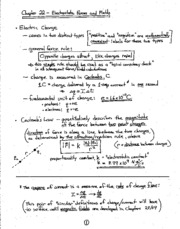 Physics notes  Electric Forces and Fields