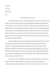 Essay Tips For High School  Pages A Homemade Education Sample Business Essay also Apa Format Essay Example Paper Mercutio Has A Very Important Role In The Play As Well He Is An  Persuasive Essay Thesis Examples