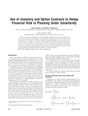 Inventory and option contracts  in planning under uncertainty(Barbaro and Bagajewicz)-04