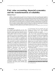 Fair value accounting, financial economics and the transformation of reliability.pdf