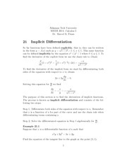 math2914~impicit differentation