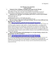 Gene Therapy Focus Questions.docx