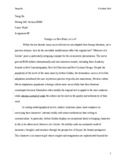 WRIT 340 Paper 2 Final Draft with comment 1