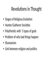 Lecture - Revolutions in Thought