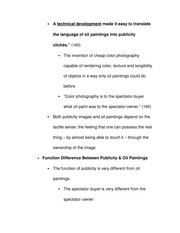 Function Difference Between Publicity & Oil Paintings Notes