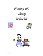 100 Theory Syllabi F 09