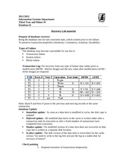 IS312_CLASS NOTES_Recovery Lab material