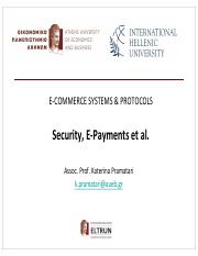 eCommerce-Pramatari-Session 3-SecurityEpayments et al.