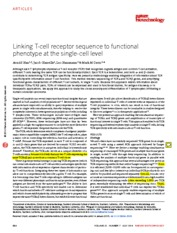 Linking T-cell receptor sequence to functional phenotype at the single-cell level