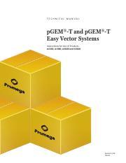 pGEM_T_Vectors_systems_protocol - TECHNICAL MANUAL pGEM-T and pGEM-T