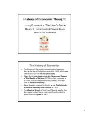 5 History of Economic Thought