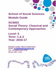 SC5003 Social Theory Module Guide 2016-2017.doc