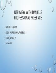 Interview with Danielle.pptx