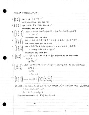 Homework 6.1 and 7.2 Solutions