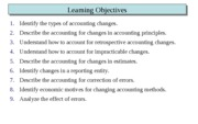 Chapter 22 (Accounting Changes and Error Analysis)