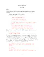 Exam 4 spring 2005 ANSWERS UPDATED