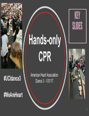 SLIDES Hands-only CPR W2017