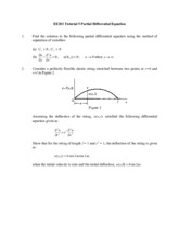EE203 Tutorial 5 Partial Differential Equation