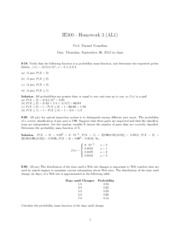 HW3 IE 300 - SOLUTIONS