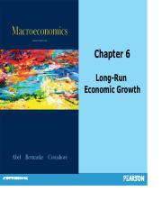 Ch 6 LR econ growth and Solow