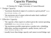 Capacity old ppt