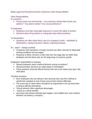 legal environment of business notes We provide reference notes for neb high school science business environment business establishes political or legal environment.