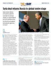 1895 Syria deal returns Russia to global centre stage