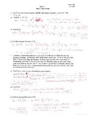MATH 218 Quiz 4 Solutions