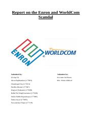 Report-on-the-Enron-and-WorldCom-Scandal.docx