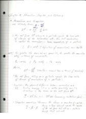 PHY2048 Physics 1, Chapter 8 Momentum Impulse and Collisions Notes