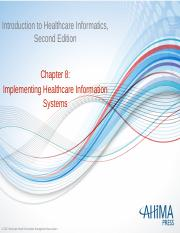 Chapter 8 Implementing Healthcare Information Systems.pptx