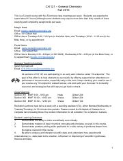 CH 121 Fall 2015 Syllabus