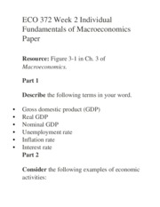 macroeconomics final paper Macroeconomics final review 136 which of the following words is suitable for a single-word definition of economics a a depositing $500 of paper money in.