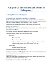 Chapter 2_The Nature and Extent of Delinquency