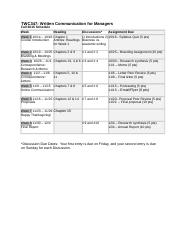 TWC347 2015 B Fall Schedule