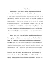 Essay About Science  Pages Finding Nemo Sample Of English Essay also Process Paper Essay Week  Assignment Docx  Running Head Finding Nemo  Comedy  A Level English Essay Structure