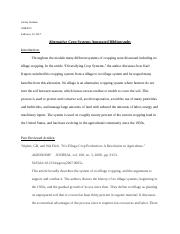Carley Jordana - Alternative Crop Systems Annotated Bibliography.docx