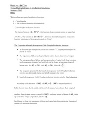 second handout on production function