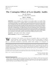 The contagion effect of low-quality audits