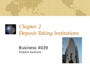 Chapter 2 - Desposit Taking Institutions Problem Solutions