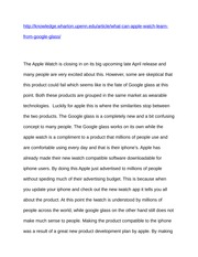 Apple Iwatch Marketing plan blog post 2 assignment