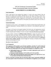 ENVS 195 - Assignment 1 Guidelines