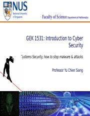 Lecture 7 - System Security and Malware [379446]