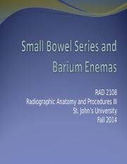7 Small Bowel Series and Barium Enemas for Class .ppt