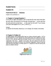 Physics 1 Chapter 6 Homework Solutions