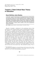 Toward a Tribal Critical Race Theory in Education