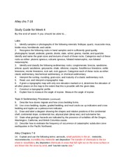Geol 203 Phase 3 Study Guide
